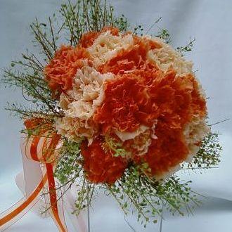 bouquet-cravos-salmao-e-pessego-buqueorange