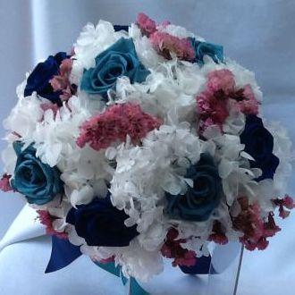 bouquet-rosas-azul-noite-e-turquesa-naturais-preservadas-buque-cor-unica