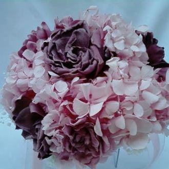 bouquethortensiaegardeniaspreservadascherryblossom
