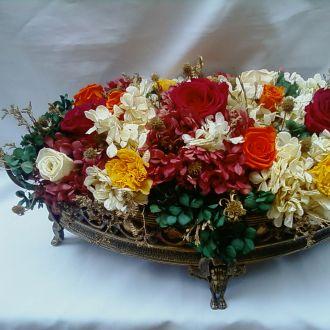 arranjo-mesa-de-jantar-flores-naturais-preservadas-e-desidratadas-cor-unica