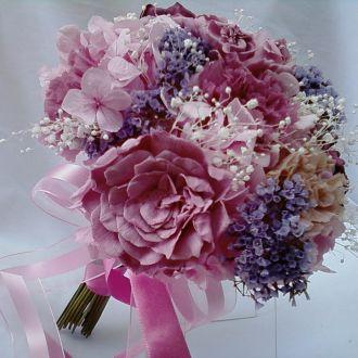 bouquet-tons-de-rosa-e-lilas-flores-naturais-preservadas-buque-cor-unica