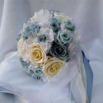 bouquetazulpreservadoelizatricketticeyblue