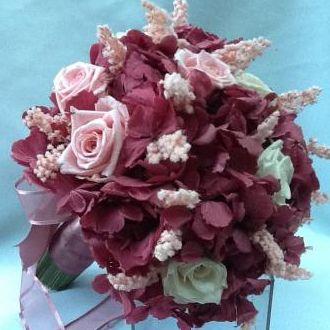 buque-bouquet-rose-antigo-com-rosas-e-solidago-naturais-preservados-cor-unica
