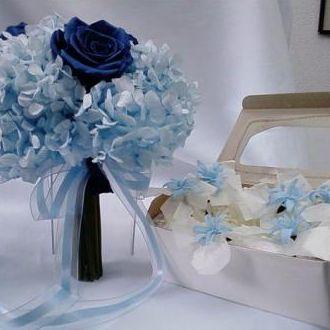 flores-de-cabelo-preservadas-combinando-com-o-bouquetlight-blue