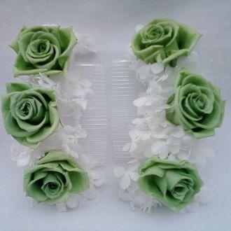 pente-flores-rosas-verdes-naturais-preservadas-e-hortensiascold-green