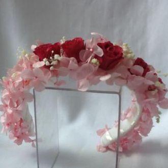 tiara-flores-cor-de-rosa-naturais-preservadas-arcodark-pink