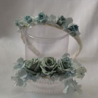 tiarinha-e-guirlanda-em-rosas-naturais-preservadas-e-hortensiaslight-blue