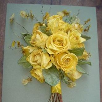 bouquetdesidratadogoldenyellow
