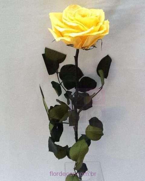 flor+de+cor+rosa-natural-preservada-amarela-+solitaria-amarela