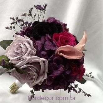 buque-roxo-rosa-e-lilas-bouquet-de-flores-naturais-preservadas+-cor-unica