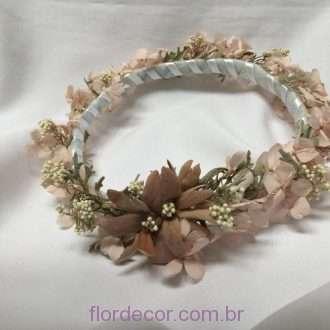 guirlanda nude flores preservadas