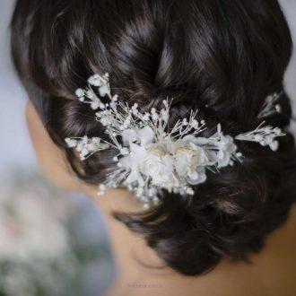 flores cabelo preservadas